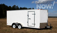 7x16 Enclosed Trailer Cargo Tandem Dual V-Nose Utility Motorcycle Lawn 18