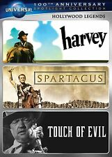 New Hollywood Legends Dvd Harvey / Spartacus / Touch of Evil Universal 100th Ann