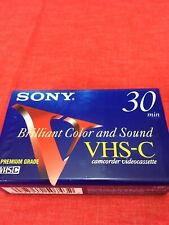 NEW Sony VHS-C Premium Grade 30 Minute Tape Camcorder Videocassette