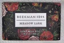 Beekman 1802 MEADOW LARK Formula Goat Milk Soap Bar Creamy Skin 9 oz/225g New