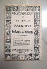 ESERCIZI SULLA RESISTENZA DEI MATERIALI N. 654 BIBLIOTECA DEL POPOLO FINE '800