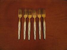 Vintage Sterling Silver Enamel TH Marthinsen Norway Set of 6 Gold Washed Forks