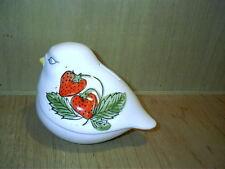 Vintage Enesco Dove Bird With Strawberries Ceramic Bank Japan