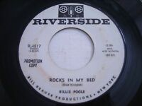 PROMO Billie Poole Rocks in my Bed / Time After Time 1961 45rpm VG+