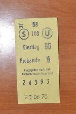 BIGLIETTO TRENO - FERROVIE - TRAIN TICKET - 1970 - EINSTIEG / PREISSTUFE  (B2)