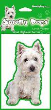 2 x West Highland Terrier Westie Fragrant Air Freshener