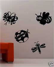 Mignon insectes Art mural autocollants chambre d'ENFANT Décalcomanie