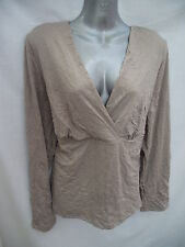 BNWT Ladies Sz 10 Undercoverwear Gorgeous Latte Long Sleeve Tunic Top RRP $49~