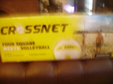 CROSSNET Four Square Volleyball Net and Game Set, inc. Carrying Backpack & ball