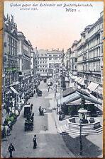 1910 Vienna/Wien, Austria Postcard: Kohlmarkt mit Dreifaltigkeitssaule