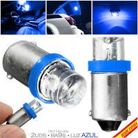 2x BOMBILLAS BA9S 1 LED AZUL BLUE XENON 10000K T4W H6W INTERIOR GUANTERA