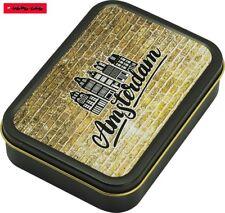 Square box lata de metal con tapa (hermético) motivo Amsterdam 2/8cm x 11cm