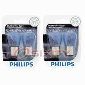 2 pc Philips Front Turn Signal Light Bulbs for Rolls-Royce Silver Cloud fn