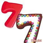 Silikon Backform Zahl 7, Silikonform 7.Kindergeburtstag Kuchenformen Zahlen Form