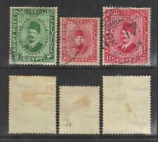 Egypt 1936-9 Military Stamps.