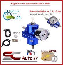 Régulateur de pression d'essence SMG universel réglable neuf RALLY bleu