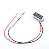 Mini 2 cables Nuevo Voltaje voltímetro Medidor de panel LED display 3-digital