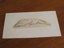 Emil Verban Autographed Index Card PSA CERTIFIED
