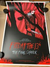 Friday The 13th The Final Chapter MONDO poster print By Jonathan Bartlett /250