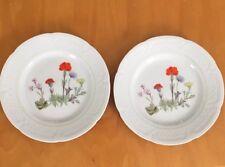 Philippe Deshoulieres Porcelaines Lourioux France Set of 2 Plates