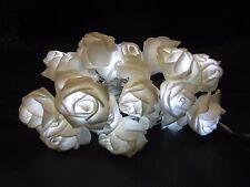 30 WHITE LED BATTERY OPERATED ROSE FLOWER LIGHTS VASE LOUNGE DOOR FRAME TREE