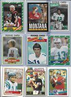 1980's Vintage NFL QB Lot of (11) Simms Montana Marino Cunningham Esiason BV$65
