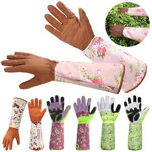 Elbow-length Gauntlet Cuff Protect Rose Pruning Cactus Handling Gardening Gloves