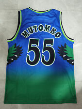 Atlanta Hawks mens Dikembe Mutombo jersey green Retro