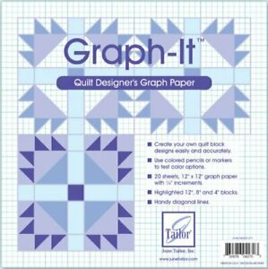 June Tailor Graph-It Graph Paper, 12 by 12-Inch, 20 Per Package