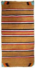 Handmade antique American Navajo baby blanket 2.8'x4.7'(85cmx143cm) 1900s 1B649