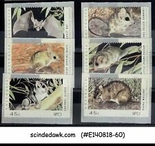 Australia - 1992 Threatened Animals / Bat Rat Mouse 6V Mnh
