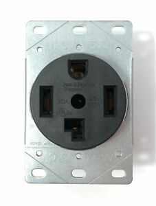 Legrand 3864 Pass & Seymour Black Dryer Outlet Receptacle 30A 250V