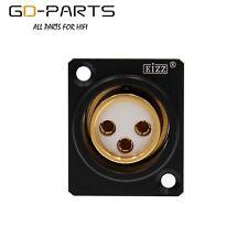 EIZZ 3 PIN Female XLR Jack Connector,24K Gold Plated Tellurium Copper Teflon 1PC