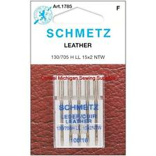 Schmetz Leather Sewing Machine Needles 15x2 Size 16 Singer Kenmore White Elna