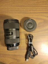 Sigma Art 18-35mm f/1.8 Lens for Nikon with Dock