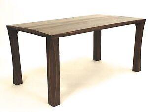 Tisch Massivholz Landhaus 160 x 90 Esstisch dunkelbraun massiv Esszimmertisch
