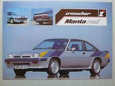 Prospekt Opel Manta irmscher real, 9.1981, 2 Seiten