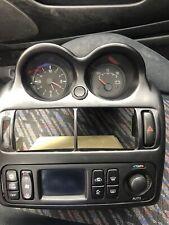 Mitsubishi fto centre console dash heater unit Clock Volts Hazard Switch