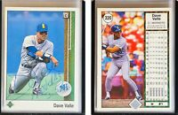 Dave Valle Signed 1989 Upper Deck #320 Card Seattle Mariners Auto Autograph