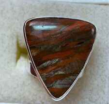 Signed Jay King DTR Sterling Silver Ring Triangular Gemstone, Size 5.5