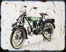 BSA B ROUND TANK 03 A4 métal signe Moto Vintage Aged
