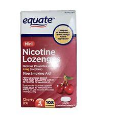 Equate Mini Cherry Nicotine Lozenges Ice Flavor, 4 mg, 108 Count New