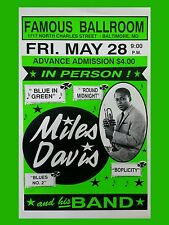 "Miles Davis Baltimore 16"" x 12"" Photo Repro Concert Poster"
