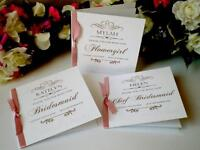 Personalised Be My Bridesmaid Photographer Maid Of Honour Flower Girl Best Woman