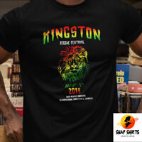 Reggae Festival Kingston Jamaica Bob Marley Museum Lion Motive Unisex T Shirt
