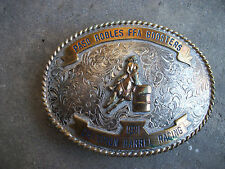 1991 Paso Robles FFA Barrel Racing belt buckle champion trophy cowboy rodeo
