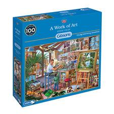 GIBSONS A WORK OF ART 1000 PIECE STEVE CRISP JIGSAW PUZZLE G6266 NEW SEALED