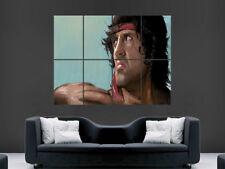 RAMBO Sylvester Stallone Manifesto Film Classico GRANDE Wall Art Picture