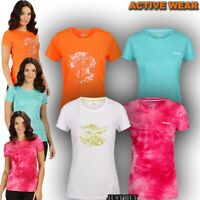 Womens T Shirt Short Sleeve Running Hiking Camping Gym Sport Yoga Top Finga