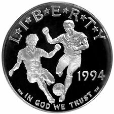 1994 S World Cup Soccer Proof Commemorative 90% Silver Dollar Us Coin